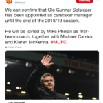 Solskjaer allenatore del manchester united
