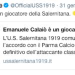 Calaiò alla Salernitana