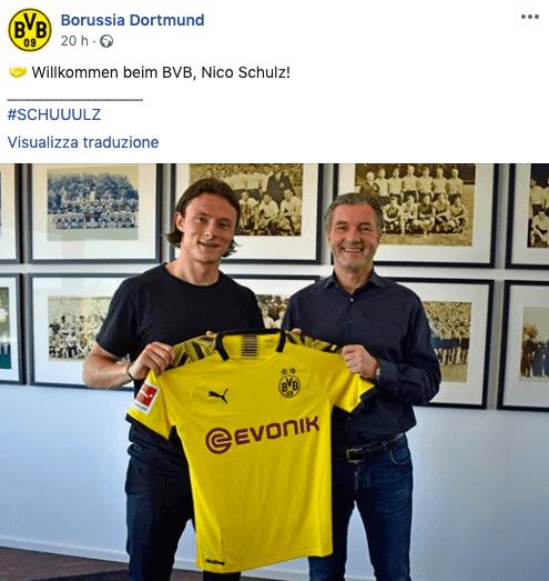 Borussia Dortmund: preso Thorgan Hazard