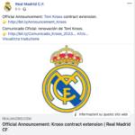 Real Madrid: Kroos rinnova fino al 2023