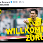 Hummels torna al Borussia Dortmund