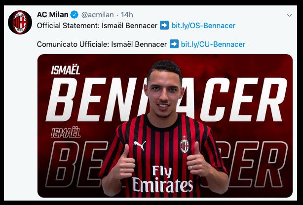 Ismaël Bennacer dall'Empoli al Milan