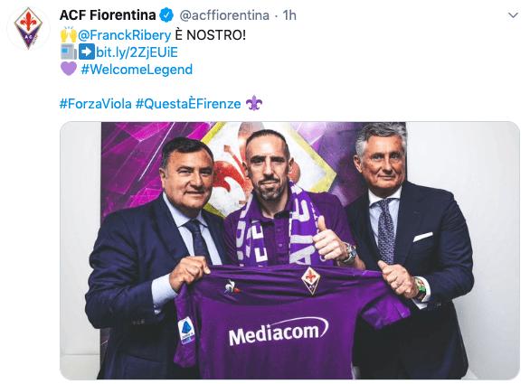 Franck Ribery alla Fiorentina