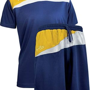 HS M11 Fairplay Kit Calcio Unisex  Adulto Blu NavyBiancoGiallo L
