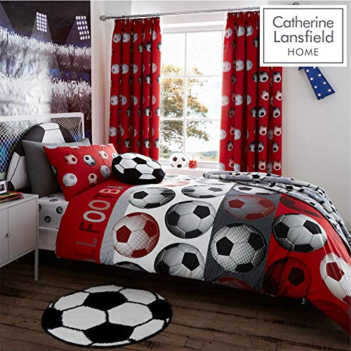 Catherine Lansfield Sleep Set Copripiumino Singolo Calcio Rosso 135 X 200cm Ultime Calciomercato